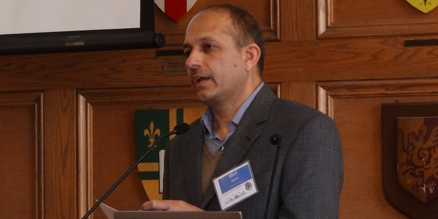 Altaf Arain McMaster University addresses the 2014 OCC climate change symposium