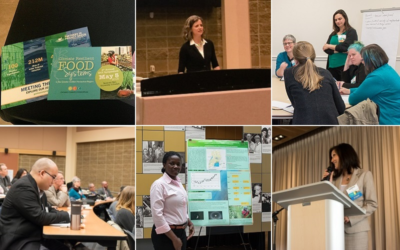 montage of images from the 2016 OCC climate change symposium