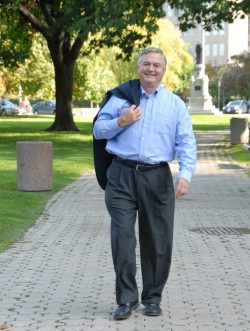 Picture of the new Chair, Peter Love, walking