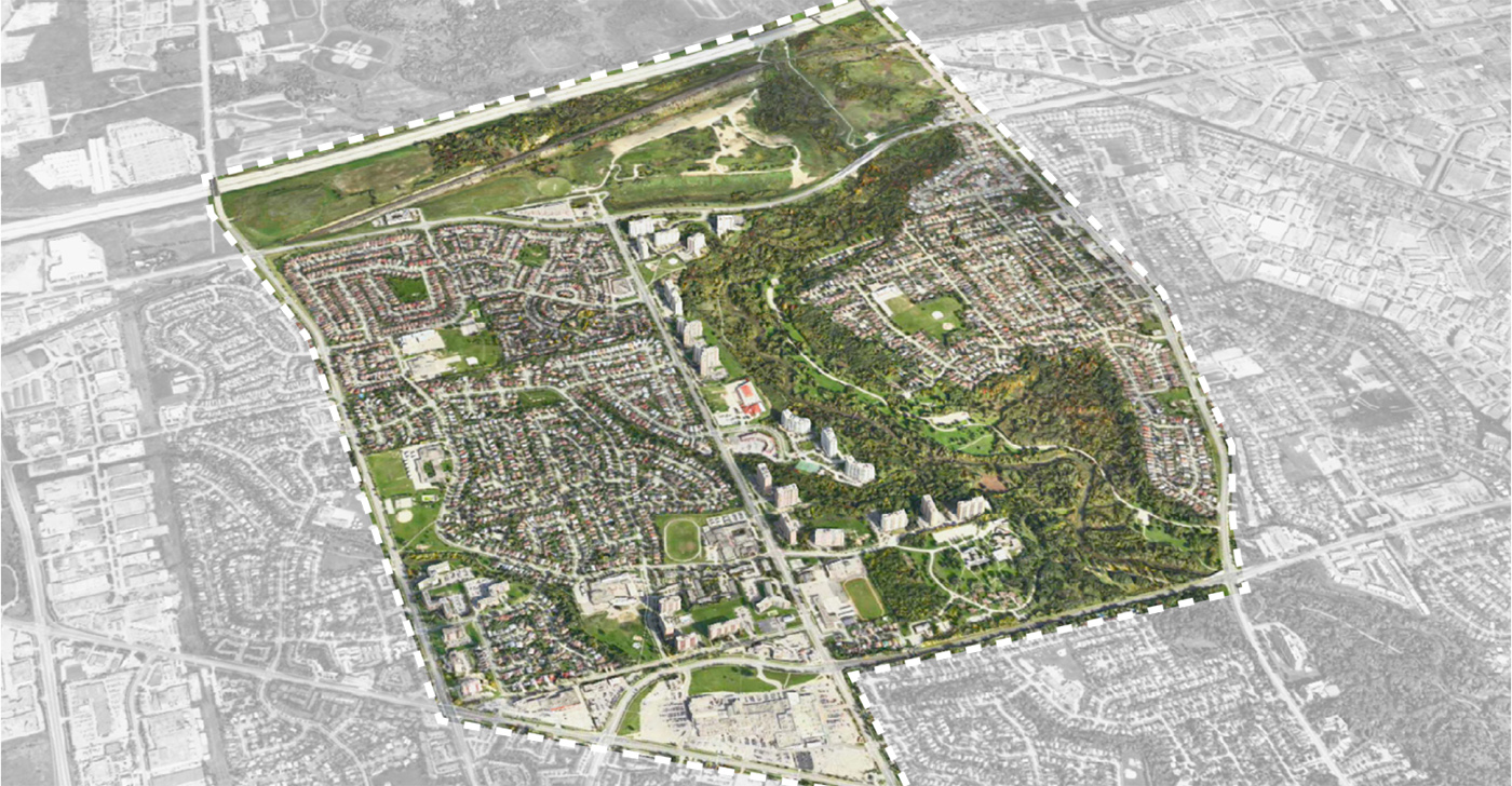aerial view of student design competition site