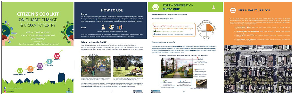 Sample pages from Citizens Coolkit on Climate Change and Urban Forestry