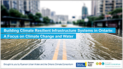 cover page of Ryerson Urban Water workshop introductory presentation