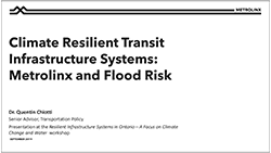 cover page of Climate Resilient Transit Infrastructure Systems presentation
