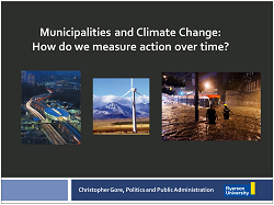 cover page of Municipalities and Climate Change presentation