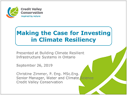 cover page of Investing in Climate Resiliency presentation