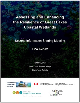 cover page of final report about information sharing meeting on Assessing and Enhancing the Resilience of Great Lakes Coastal Wetlands